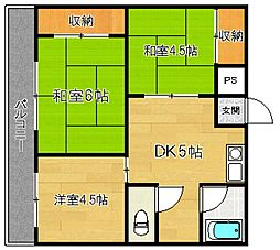 第16上野ビル[4階]の間取り