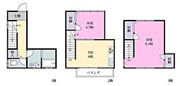 [一戸建] 千葉県習志野市実籾4丁目 の賃貸【/】の間取り