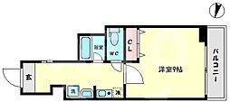 TOYOTOMI STAY Premium 難波桜川II 8階1Kの間取り