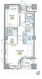 JR山手線 大塚駅 徒歩9分の賃貸マンション 9階1SLDKの間取り