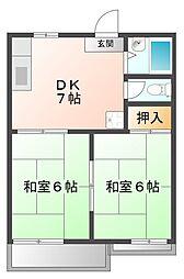 AKTY上甲子園A棟[2階]の間取り