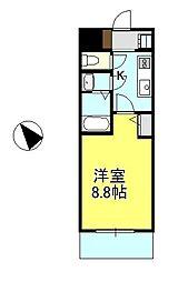 神奈川県相模原市緑区橋本台2丁目の賃貸マンションの間取り