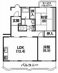 静岡県浜松市南区恩地町の賃貸マンションの間取り