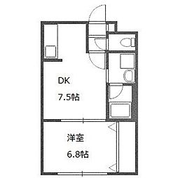 北海道札幌市白石区菊水五条3丁目の賃貸マンションの間取り