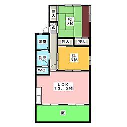 ハイムHIDAKA[1階]の間取り