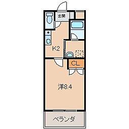 ル・マンA3番館[1階]の間取り