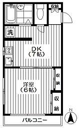 東京都新宿区西落合3丁目の賃貸アパートの間取り