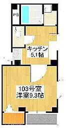 大阪府枚方市磯島茶屋町の賃貸マンションの間取り