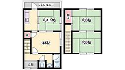 本町タウンハウス[3号室]の間取り