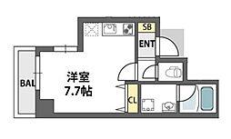 アビテ北御堂[6階]の間取り