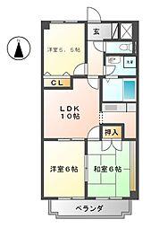 メゾン五反田[3階]の間取り