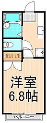 ヴィレヂ・ハピネス5 弐番館[105号室]の間取り