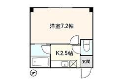 アシスト第2青森マンション 3階1Kの間取り