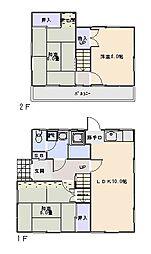[一戸建] 埼玉県入間市扇台3丁目 の賃貸【/】の間取り