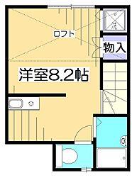 東京都府中市住吉町5丁目の賃貸アパートの間取り