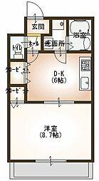 メゾンドララバイII[1階]の間取り