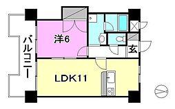 Kマンション No.6[602 号室号室]の間取り