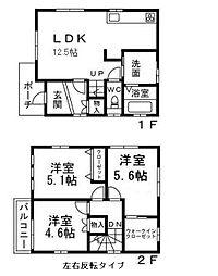[一戸建] 大阪府八尾市弓削町2丁目 の賃貸【/】の間取り