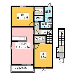 サンリットIII[2階]の間取り