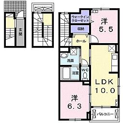 メゾン・リベルテA[3階]の間取り