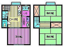 [テラスハウス] 埼玉県さいたま市浦和区本太1丁目 の賃貸【埼玉県 / さいたま市浦和区】の間取り