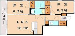シャルマン福間南[2階]の間取り