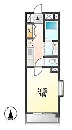 コーポラスヤスイ[3階]の間取り