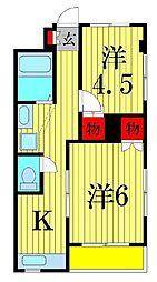 アビタシオン細田[3階]の間取り