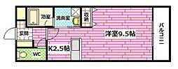 広島県安芸郡坂町北新地2丁目の賃貸マンションの間取り