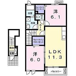 プロムナードさくら2番館[2階]の間取り