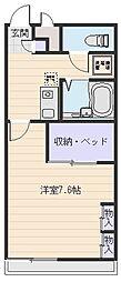 大阪府八尾市西高安町4丁目の賃貸アパートの間取り