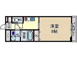 ブロッサム茨木[6階]の間取り