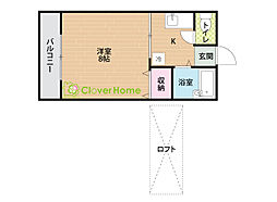 神奈川県相模原市南区上鶴間本町4の賃貸アパートの間取り