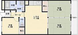 泰山ハイツ[5階]の間取り