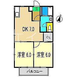 シャーメゾン井上[2階]の間取り