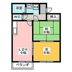 ケイアイアパートメントB[2階]の間取り