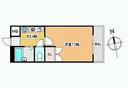 レオパレス松井[1階]の間取り