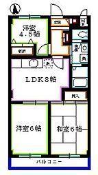 東京都西東京市栄町1丁目の賃貸マンションの間取り