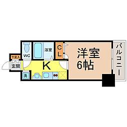 プレサンス名古屋STATIONビーフレックス[1203号室]の間取り