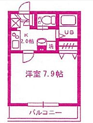 神奈川県川崎市麻生区上麻生4丁目の賃貸アパートの間取り