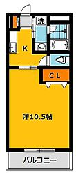 エルハイツ川田[6階]の間取り