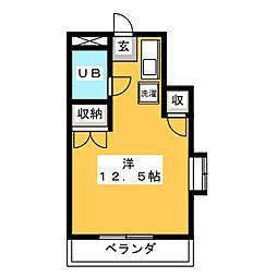 シンコーハイツ[4階]の間取り