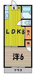上福岡ハイツ[2階]の間取り