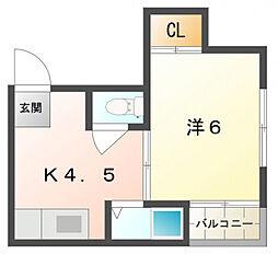 ハピネスプラザ藤田[1階]の間取り