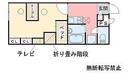 レオパレス福千荘[203号室]の間取り