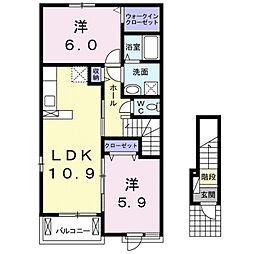 サニーサイド西福原[2階]の間取り