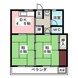 ふじハイツ I[1階]の間取り