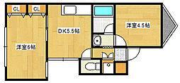 兵庫県神戸市灘区岸地通1丁目の賃貸マンションの間取り