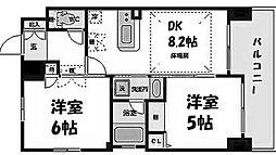 エステムプラザ梅田・中崎町IIIツインマークスサウスレジデンス[14階]の間取り