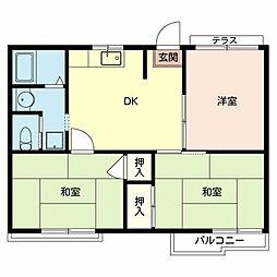ラ・フォーレ深井D棟[2階]の間取り